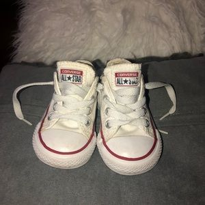 White low top All Star Converse